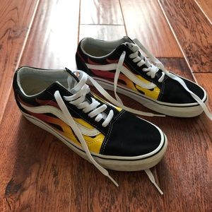 Vans Old Skool flames sneakers